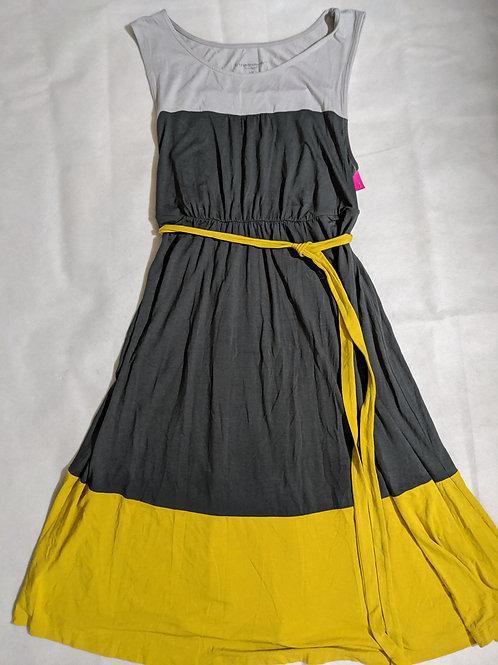 Liz Lange color block tank tie waist sundress L