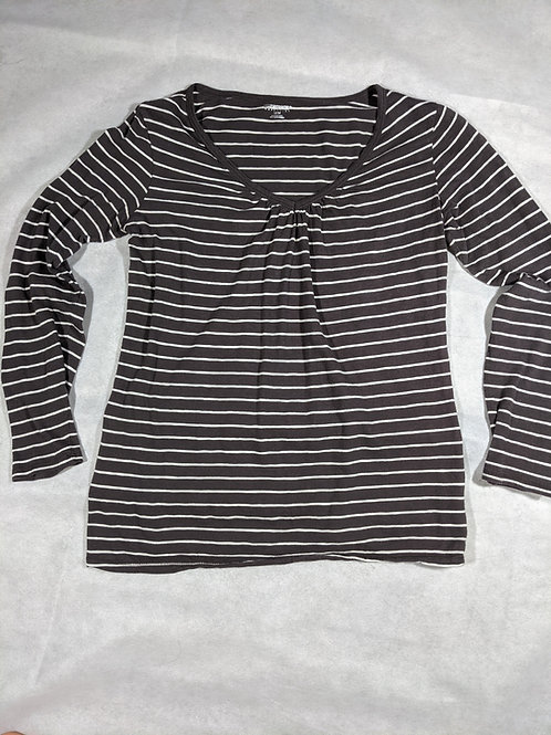 Motherhood, Striped V-Neck Long Sleeve, M