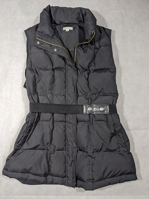 A Pea in the Pod, Belted Puffer Vest, Black, L