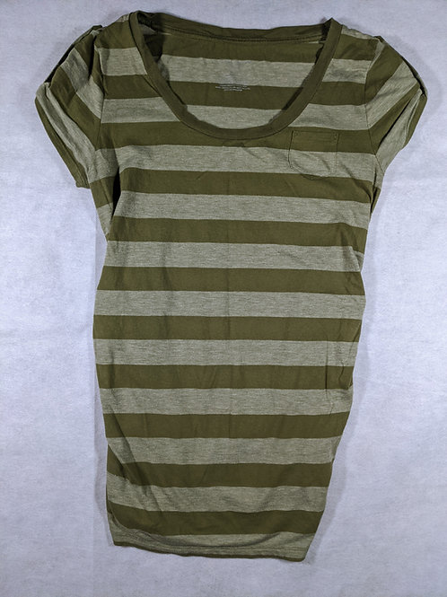 Liz Lange, Striped Scoop Neck Pocket, XS