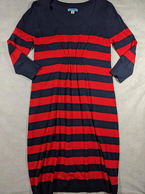 Old Navy, Striped Smocked Waist Sweater Dress, M