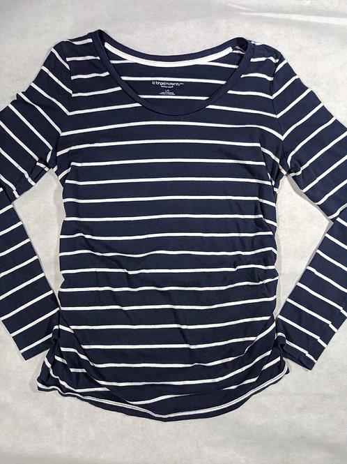 Liz Lange, Striped Scoop Neck Long Sleeve, L