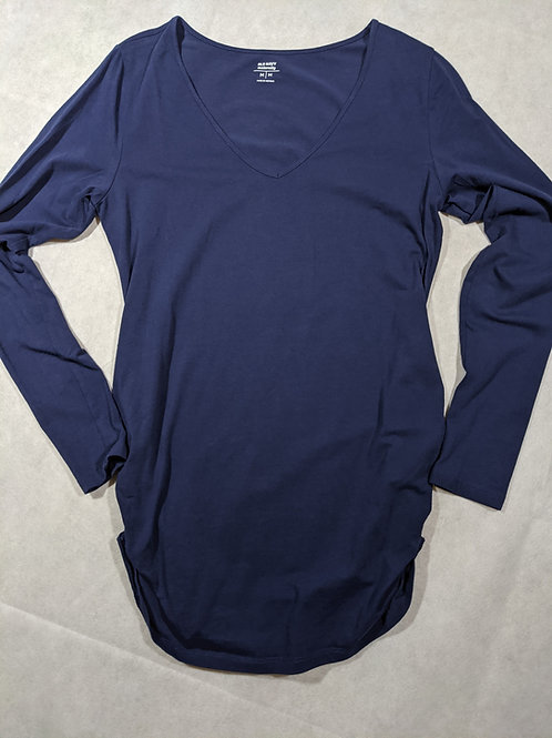 Old Navy, V-neck, Long Sleeve, Navy, M