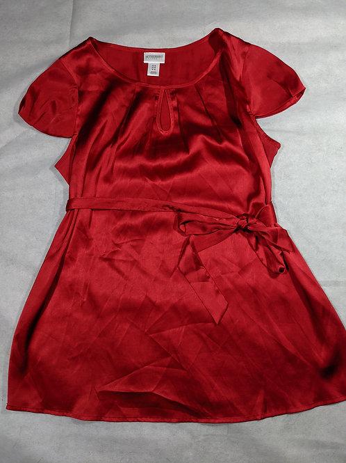 Motherhood, Scoop Neck Key Hole Tie Waist Short Sleeve, M