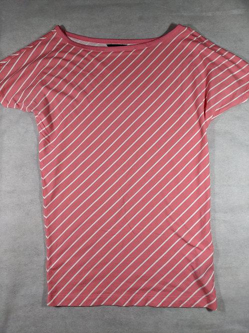 Moda International, Scoop Neck Striped T-shirt, S