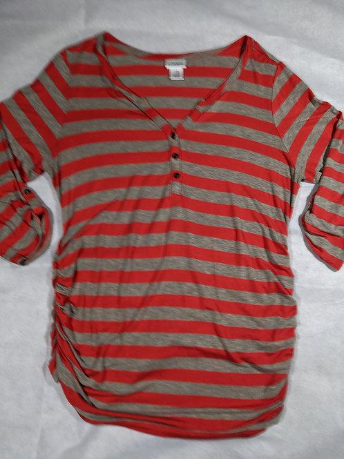 Motherhood, Striped 3/4 Sleeve Henley, XL