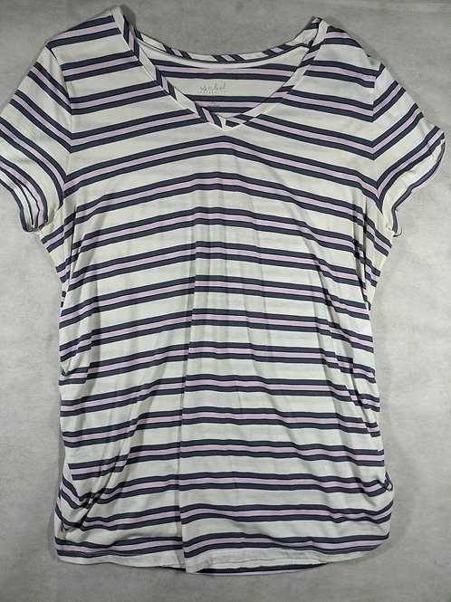 Isabel, Striped V-Neck, XXL