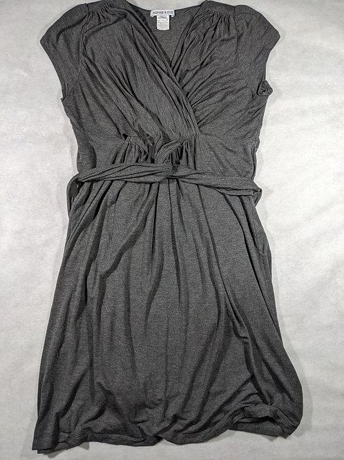 Sophie & Eve, Short Sleeve Knee Length Tie Waist, L