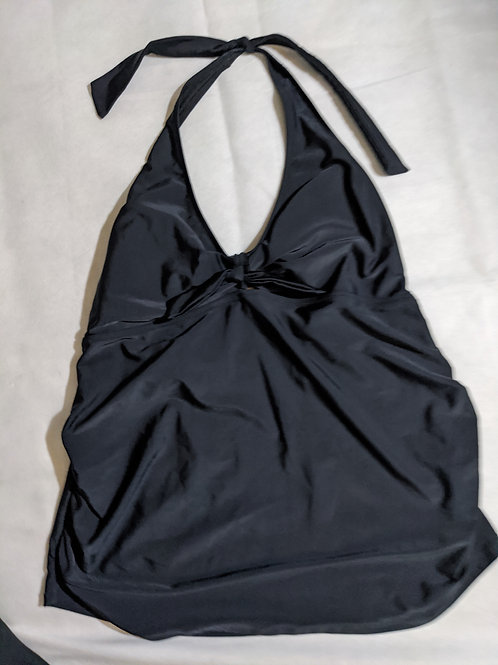 Old Navy black halter bathing suit top XL