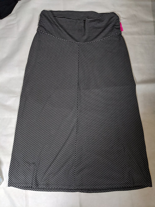Old Navy Maxi Skirt black and grey stripe