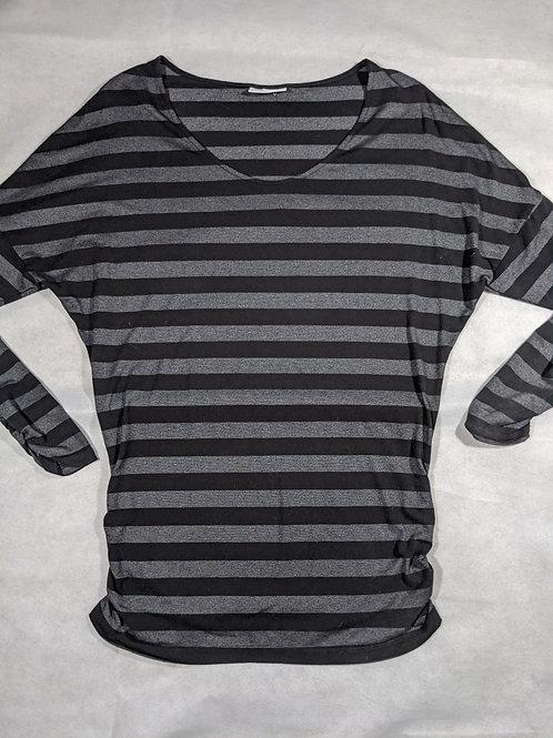 Liz Lange, Striped Scoop Neck Long Sleeve Tunic, M/L
