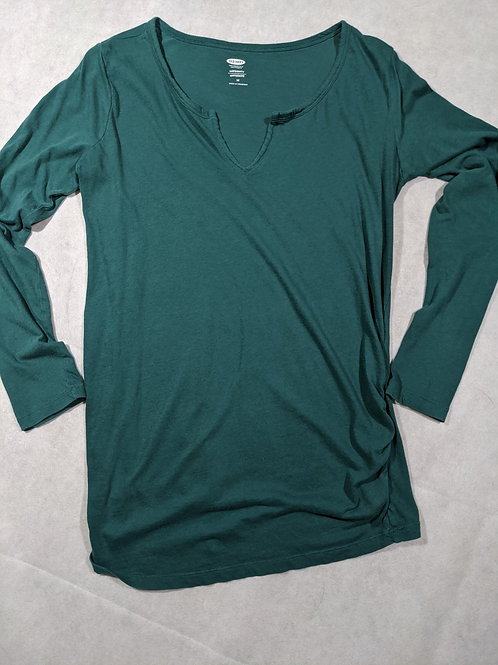 Old Navy, V-neck, Long Sleeve, Green, M