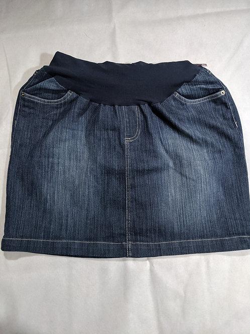Two Hearts Maternity Full belly denim skirt XL