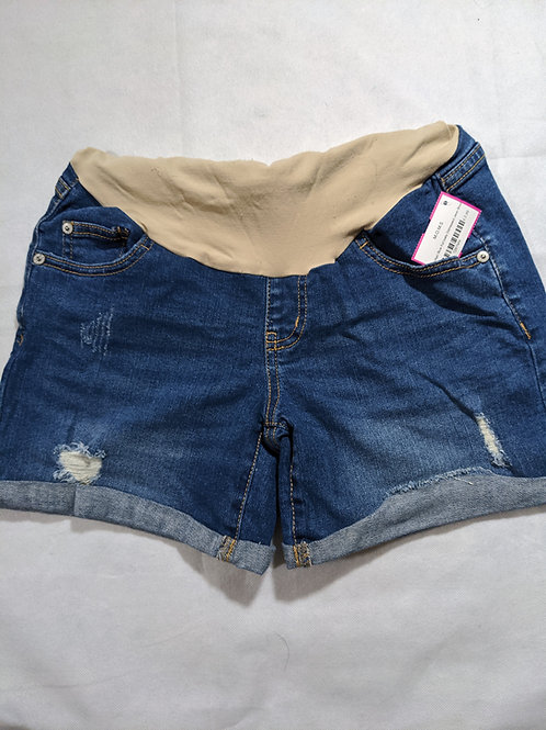Indigo Blue Full belly Distressed Jean Short S