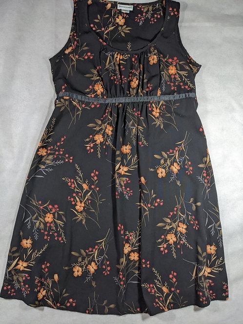 Motherhood, Scoop Neck Waist Defined Tie Floral Tank, M