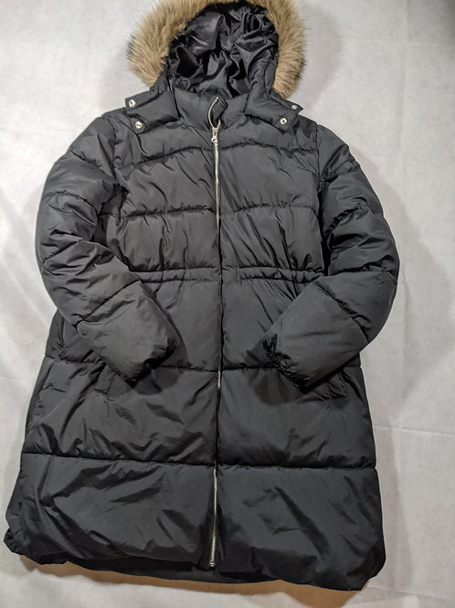 Old Navy, Puffer Jacket w/ Fur Hood, Black, L