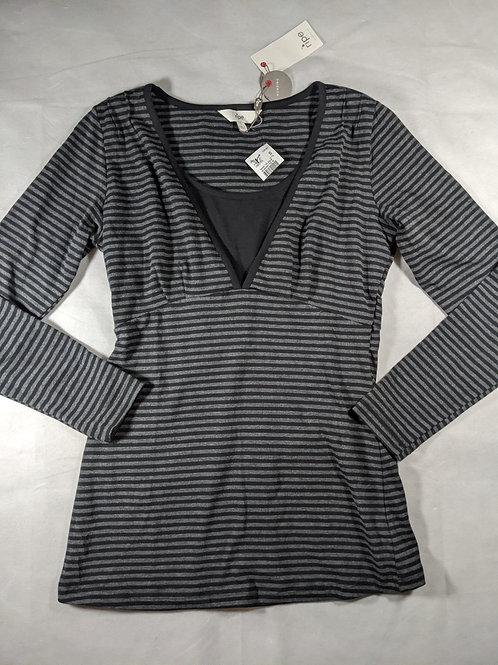 Ripe, nursing top, long sleeve, striped S