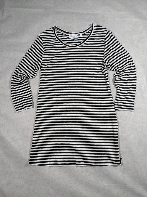 Old Navy, 3/4 Sleeve sleeve striped slit side tunic, S