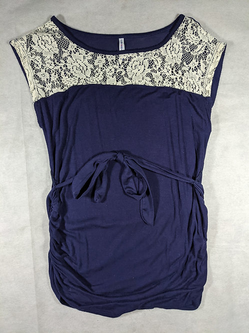 Planet Motherhood, Lace tie waist short sleeve, S