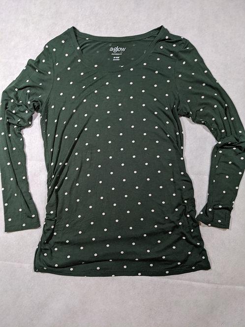 a:glow, Polka dot, Long Sleeve, Green, M