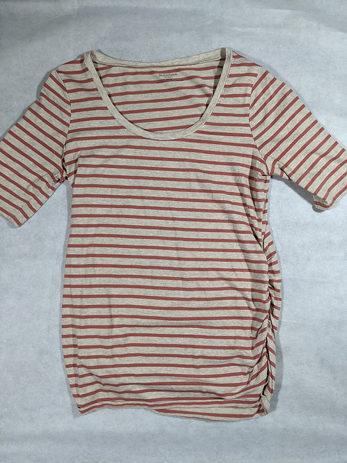 Motherhood, Striped Scoop Neck 3/4 Sleeve, M
