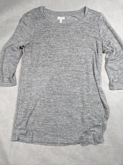 A Glow, Heather Scoop Neck 3/4 Sleeve Drawstring Side, XL