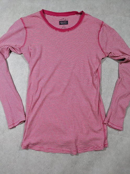 Old Navy, Striped, Scoop neck, Pink/White, S