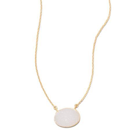 Delila Gold Druzy Necklace