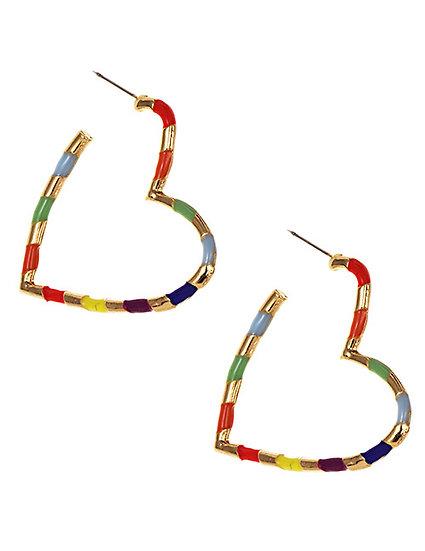 Maeve Heart Hoop Earrings