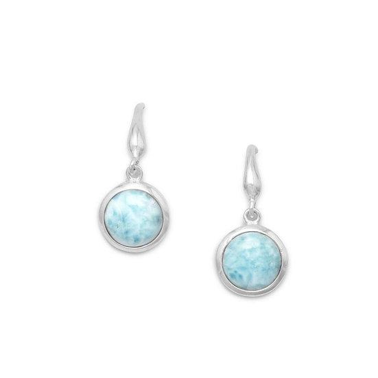 Silver Larimar Drop Earrings