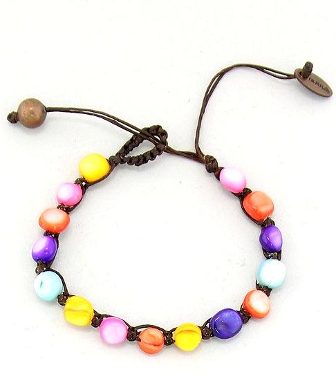 Handmade Multi-Tone Shell Bracelet