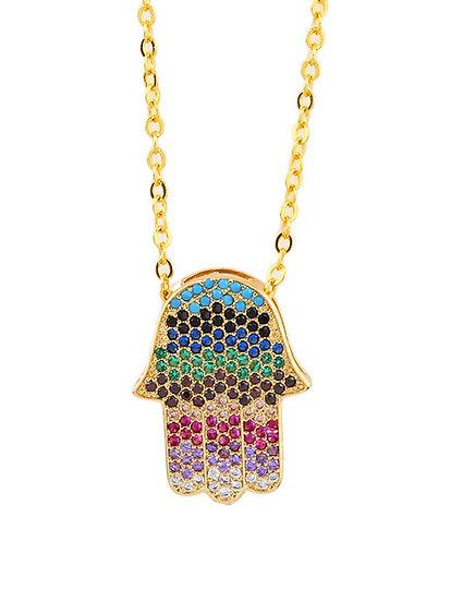 Zelly Palm Pendant Necklace