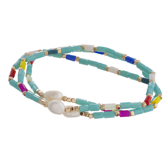 Color Block Bracelet Set