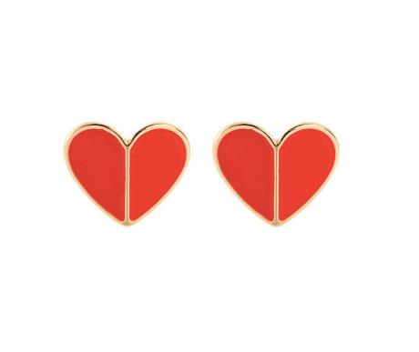 Hilda Heart Stud Earrings