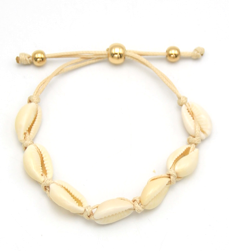 Adjustable Shell Bracelet