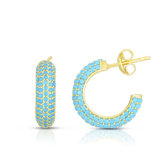 Tally Huggie Hoop Earrings