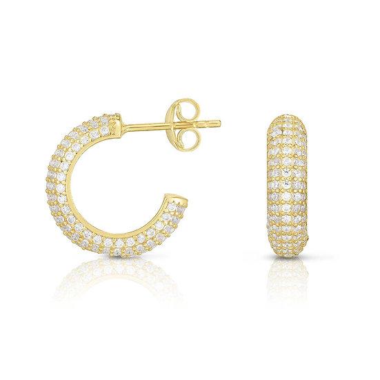 Amanda Huggie Hoop Earrings