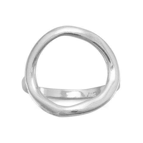 Silver Open Circle Ring