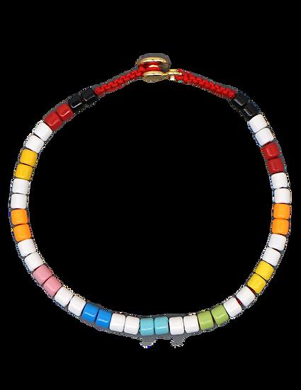 Miller One Painted Bead Bracelet