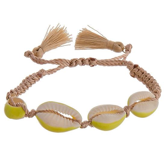 Cowrie Shell Tassel Bracelet