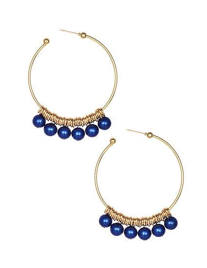Naseem Pearl Drop Hoop Earrings