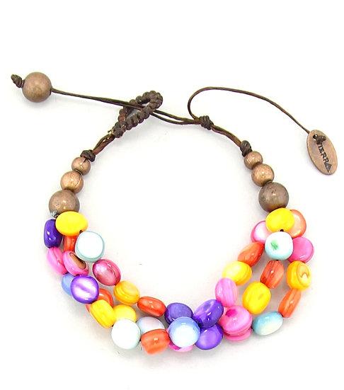 Handmade Candy Shell Layered Bracelet