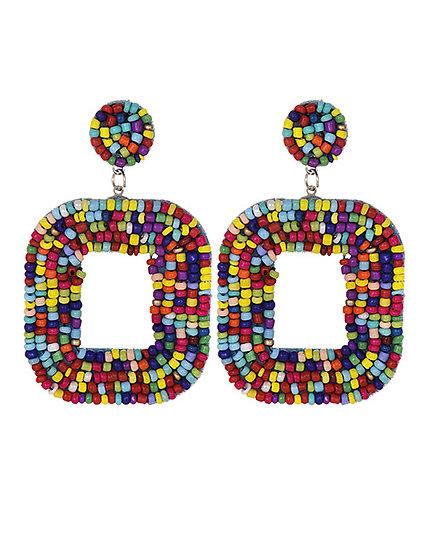 Mimi Square Drop Earrings