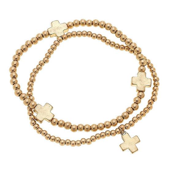 Taan Cross Stretch Bracelet Set