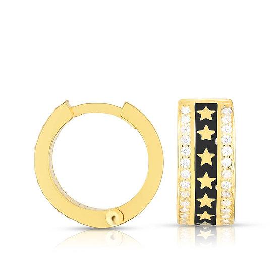 Silva Star Huggie Earrings