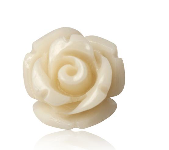 Pearl White Rose Stud Earrings