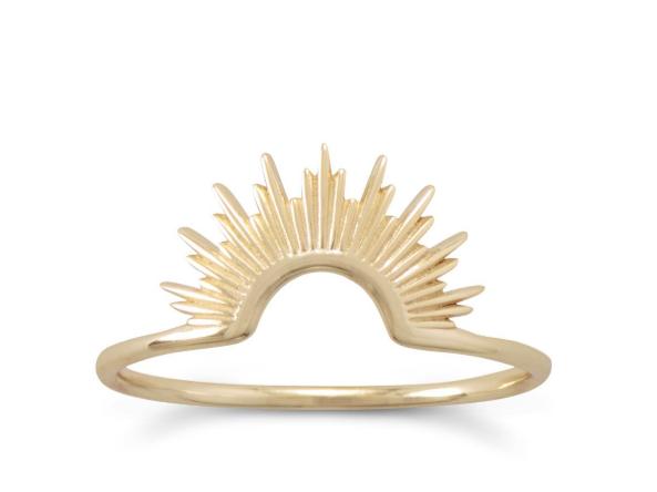 Gold Sunburst Ring