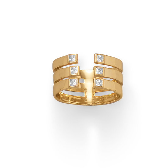 Trina Triple Row Ring