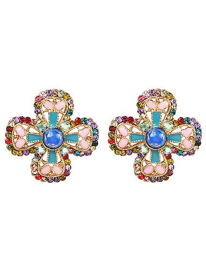 Fiona Flower Earrings