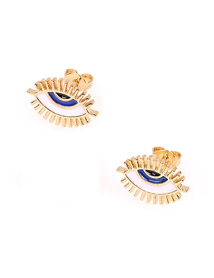 Lillia Eyelash Stud Earrings